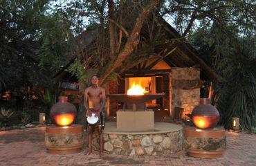 Mabula Game Lodge - Entrance at Night